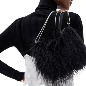 Zara New Faux Fur Mini Bag
